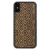 iPhone X Wood Protective Case Walnut Aztec