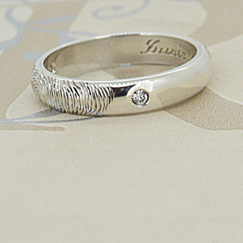 Fingerprint Ring Diamond Setting