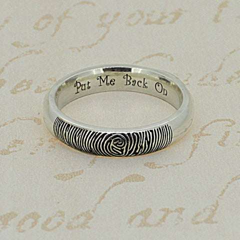 Inspired Engraving Ideas for Fingerprint Rings