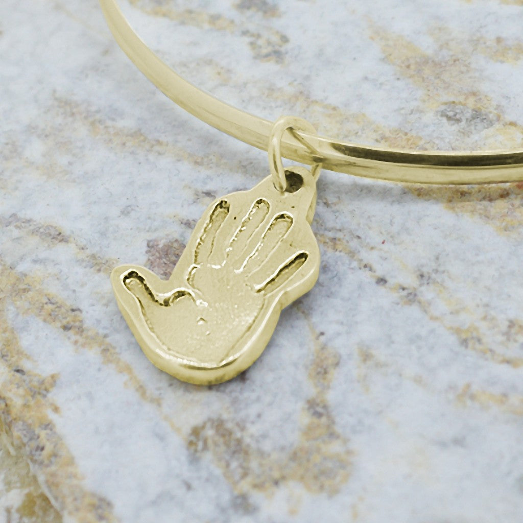 1d95cefca Fingerprint Charms And Necklaces - SHAPED PERSONALISED HANDPRINT CHARM ...