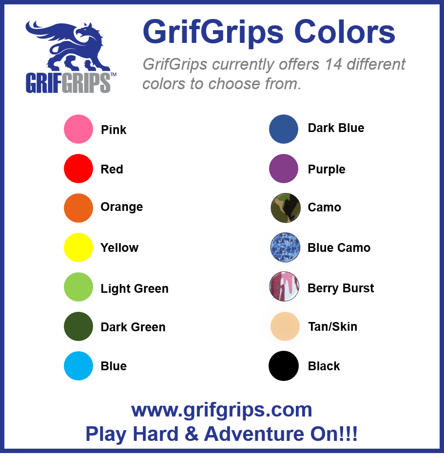 What Colors Do You Offer? - GrifGrips