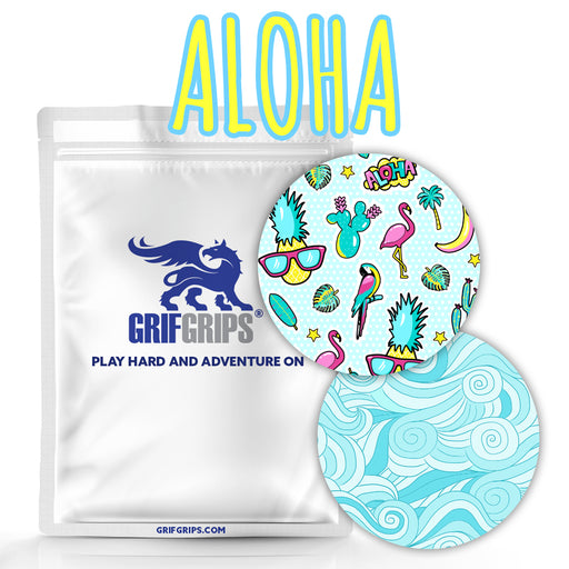Aloha Combo: - Spot Circle in Summer Theme - Choose Your Formula - 25 Pack - GrifGrips
