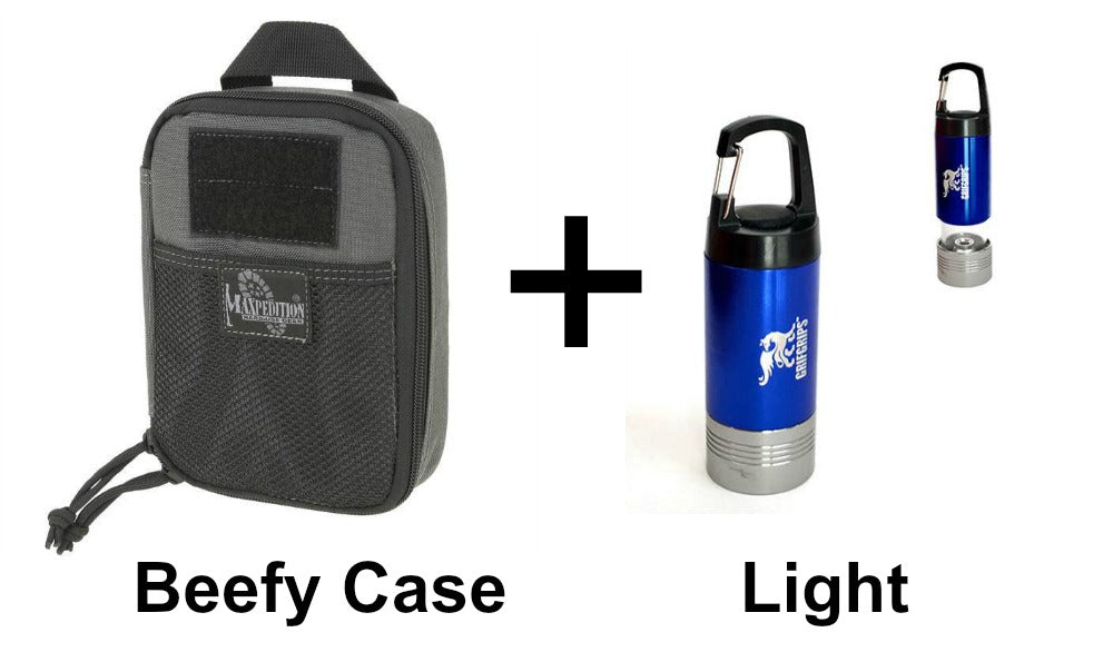 Beefy Pocket Organizer Case and Light Combo