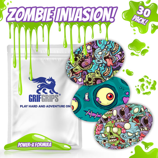 GrifGrips Zombie Invasion Combo (Oval Shapes - Power-X Formula - 30 Pack)
