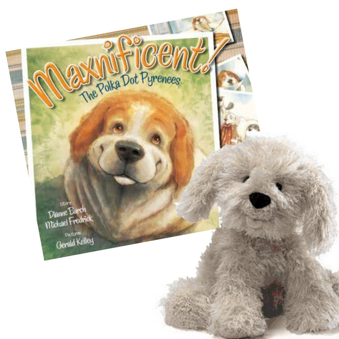 Maxnificent! The Polka Dot Pyrenees Book, Paw Grips and Cuddle Pal - Original Formula