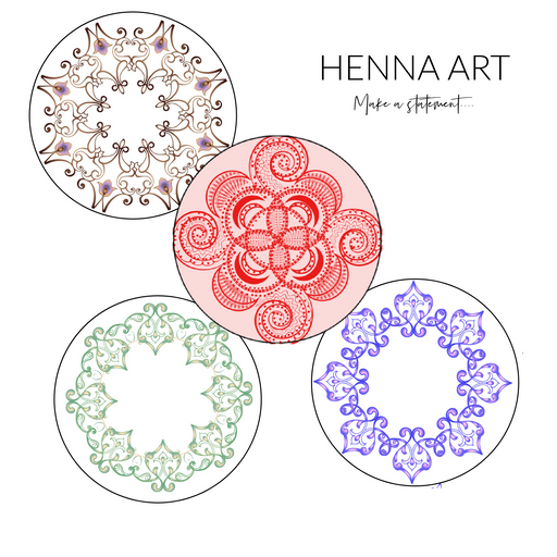 "Henna Art: Choose Your Formula - Spot - 3"" x 3"" (20 Pack)"