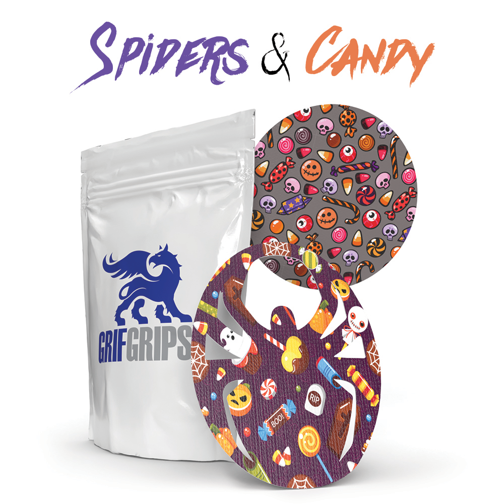 Spiders & Candy - Widow and Circle Shapes - Power-X Formula - 10 Pack - GrifGrips