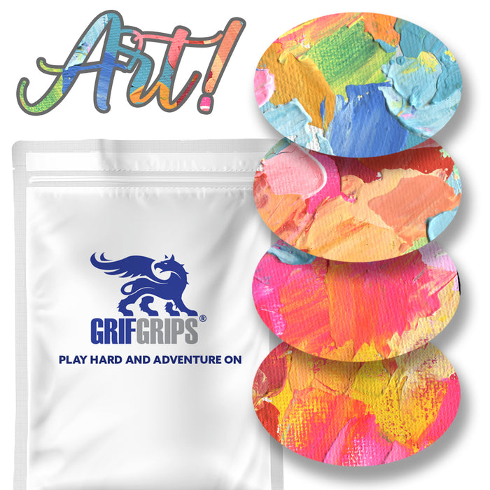 Art! Combo: Oval Shapes - Extreme Formula - (30 Pack) - GrifGrips Pre-cut Adhesive for Dexcom G6 to Grip Your Skin!
