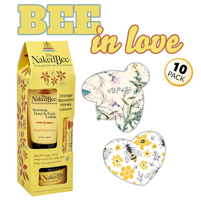 GrifGrips Bee In Love Combo: Extreme - 10 Pack Grips Plus Honey Gift Collection (Omnipod)