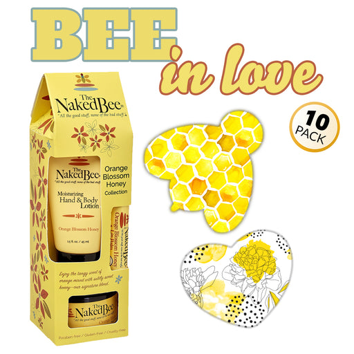 GrifGrips Bee In Love Combo: Power-X - 10 Pack Grips Plus Honey Gift Collection
