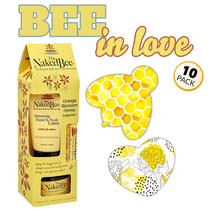 GrifGrips Bee In Love Combo: Power-X - 10 Pack Grips Plus Honey Gift Collection - GrifGrips