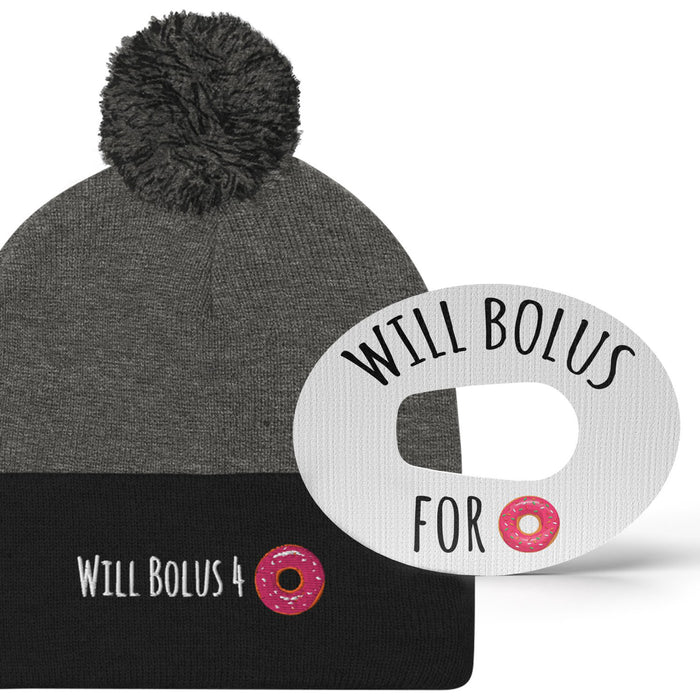Bolus 4 Doughnuts Beanie + Matching Grips - Extreme Formula - Choose Your Device (5-Pack)