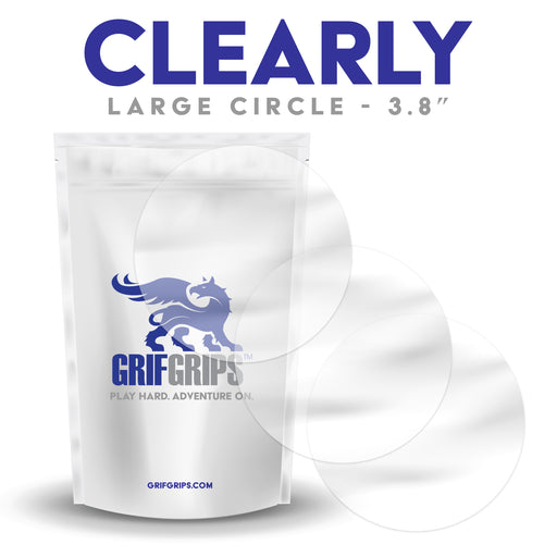 "Clearly - Large Circles - 3.8"" - 25 Pack - GrifGrips"