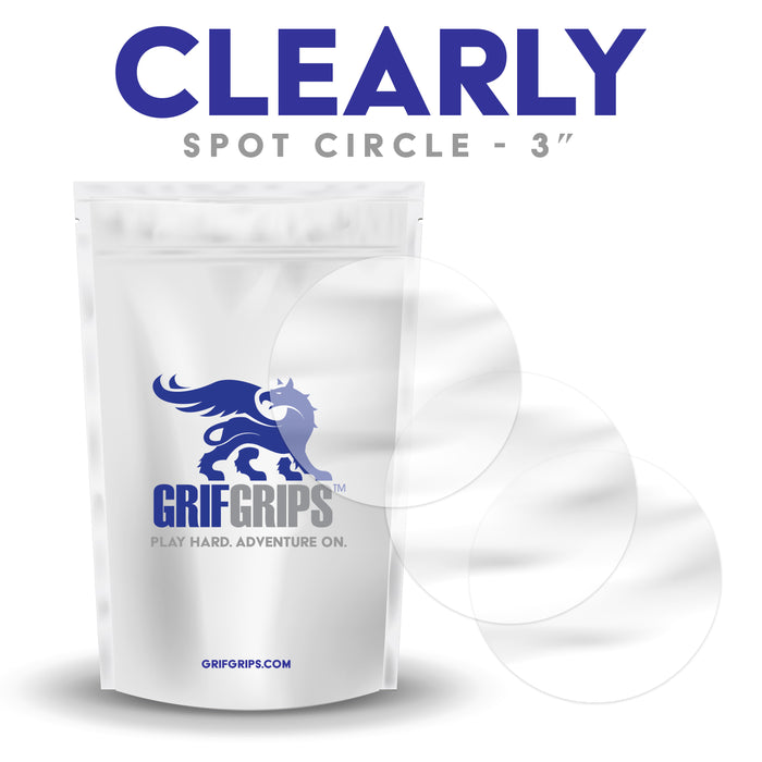 "Clearly - Spot Circles - 3"" - 25 Pack - GrifGrips"