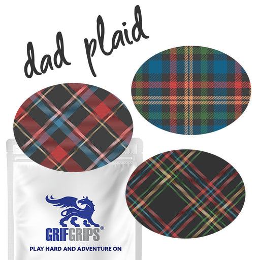 Dad Plaid Combo: Oval Shapes - Power-X Formula - GrifGrips