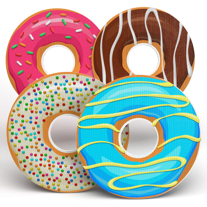 "I ❤️ Doughnuts Combo for Infusion Sets: Choose Your Formula - Spot Circle - 3"" x 3"" (20 Pack) - GrifGrips"
