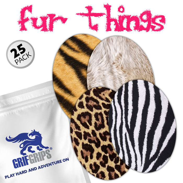 Extreme: Fur Things Ovals Combo (Pack of 25) - GrifGrips
