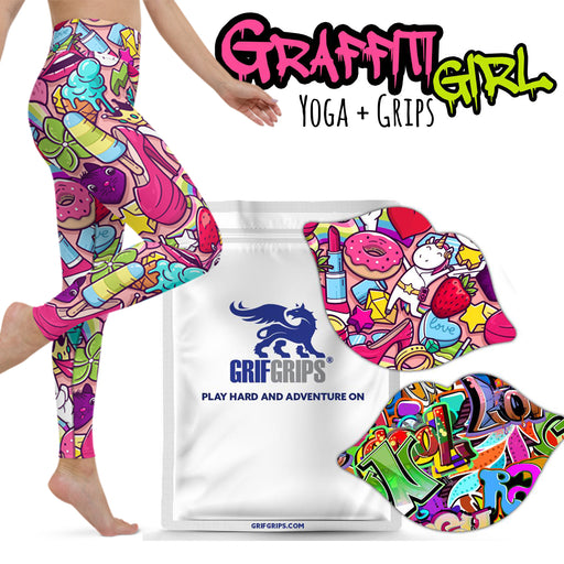 Yoga Grips: Graffiti Girl Combo with Yoga Leggings - GrifGrips