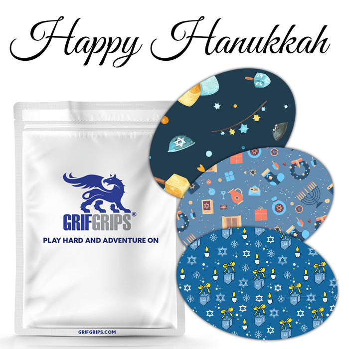 Happy Hanukkah Combo - Power-X Ovals (25 Pack) - GrifGrips