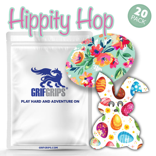 Hippity Hop (you don't stop) Combo: Choose Your Formula - Bunny and Oval Shapes (Pack of 20) - GrifGrips