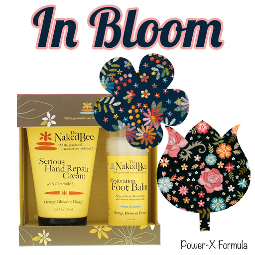 In Bloom Combo: Power-X Formula - 10 Flower Shapes Plus Hand & Feet Care Gift Set - GrifGrips