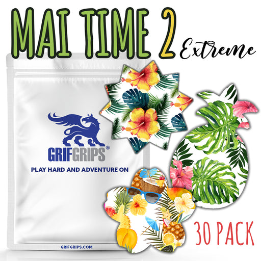 Mai Time 2 Combo: Choose Your Formula - Pineapple, Sun and Cherry Blossom Shapes (30 Pack) - GrifGrips