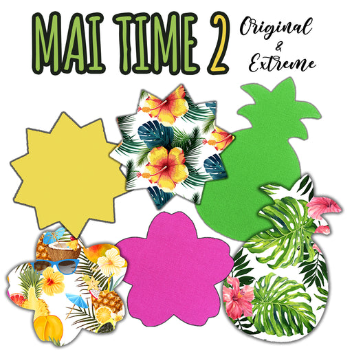 Mai Time 2 Combo: Choose Your Formula plus Original - Pineapple, Sun and Cherry Blossom Shapes (30 Pack) - GrifGrips