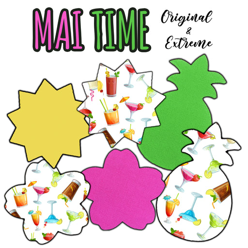 Mai Time Combo: Extreme plus Original Formulas - Pineapple, Sun and Cherry Blossom Shapes (15 Pack) - GrifGrips
