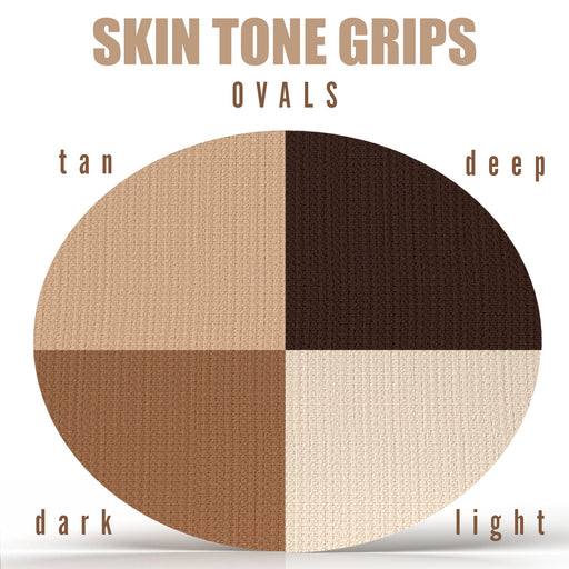 Skin Tone Grips: Oval Grips - Choose your Device / Tape Formula / Skin Tone (25 Pack)