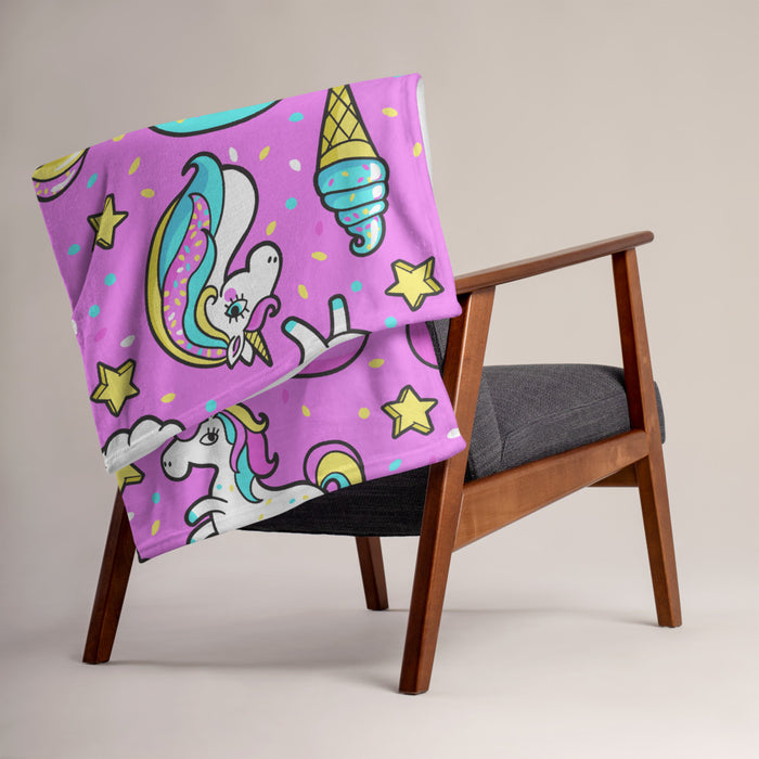 GrifGrips Unicorn Throw Blanket - GrifGrips