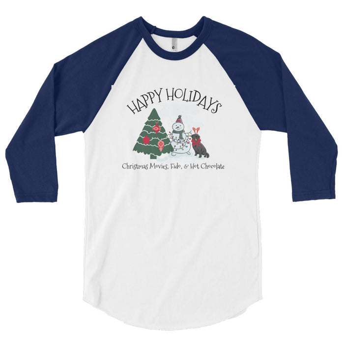 Christmas with Fido Baseball Tee - GrifGrips