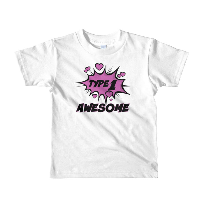 Type 1 Awesome Love - Short sleeve kids t-shirt