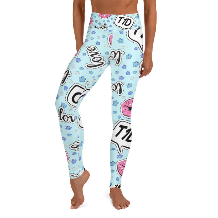 T1D Love Yoga Leggings - GrifGrips