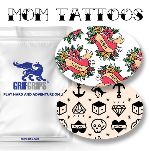 Mom Tattoos Combo: Oval Shapes - Choose Your Formula - 20 Pack