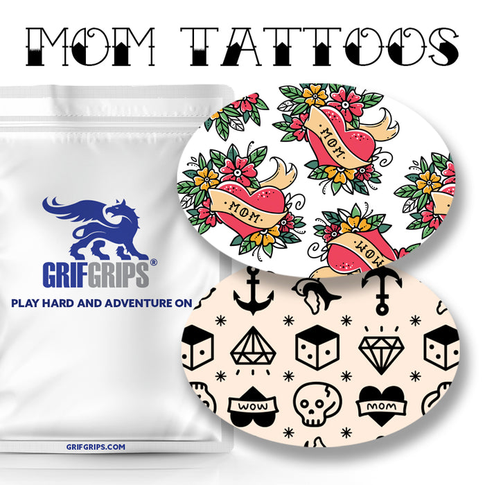 Mom Tattoos Combo: Oval Shapes - Choose Your Formula - 20 Pack - GrifGrips