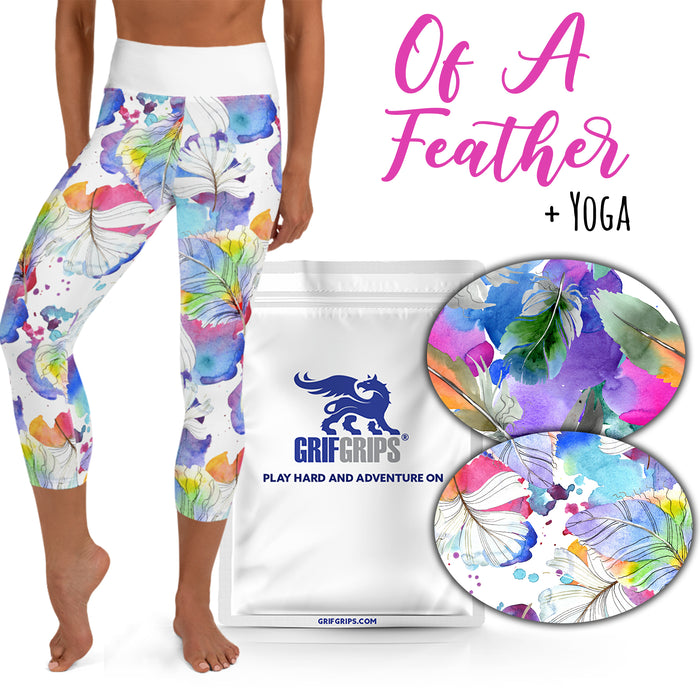 Yoga Grips: Of A Feather Combo with Yoga Capri Leggings (10 Pack - Extreme Formula))