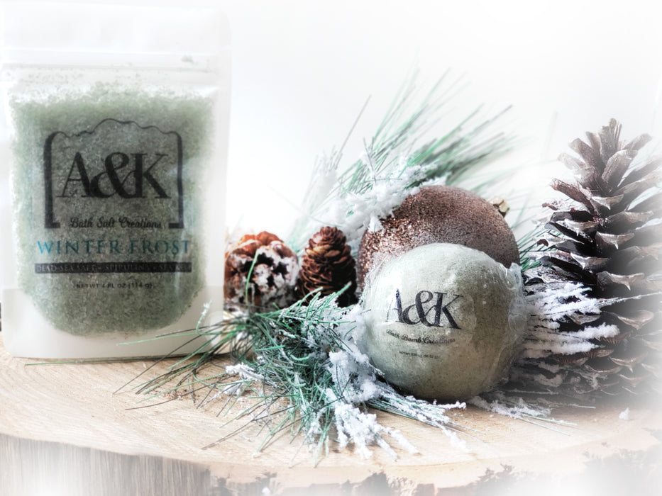 Winter Frost Bath Salt and Bath Bomb Gift Set
