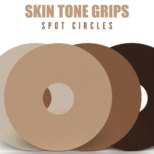 "Skin Tone Grips: 3"" Spot Circle Grips to Secure Infusion Sets and Libre Devices - Choose your Formula and Skin Tone (25 Pack)"