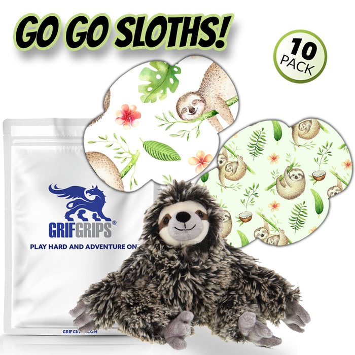 GrifGrips Go Go Sloth! Combo with Cuddle Pal (Wrap Shape - Choose Your Formula - 10 Pack)