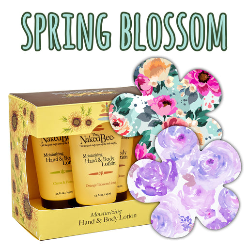 Spring Blossom Combo: 10 Pack of Extreme Gardenia Shaped Grips Plus Lotion Trio