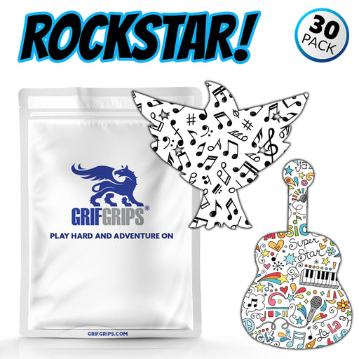 GrifGrips Rock Star Combo (Eagle and Guitar Shapes - Extreme Formula - 30 Pack) - GrifGrips