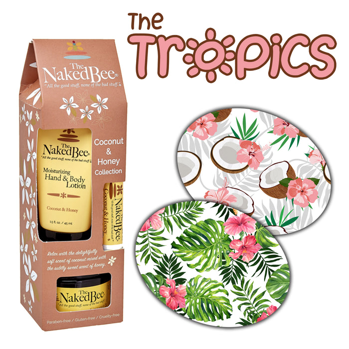 The Tropics Combo: Extreme - 10 Pack Oval Grips Plus Coconut Honey Gift Collection