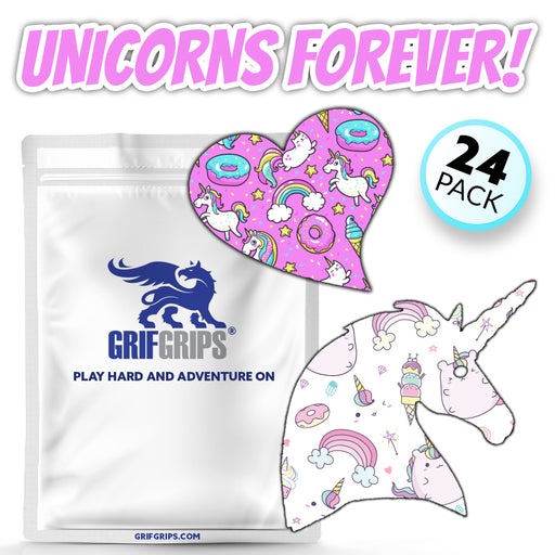 Unicorns Forever Combo - Power-X and Extreme Formulas - Sweetheart and Unicorn Shapes (24 Pack) - GrifGrips