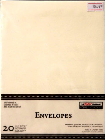 The Paper Company Ivory A-7 Envelopes