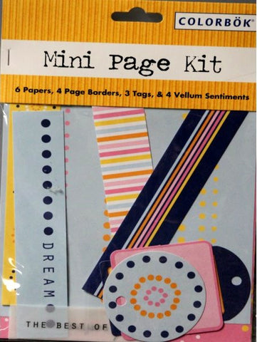 Colorbok Mini Page Kit - SCRAPBOOKFARE