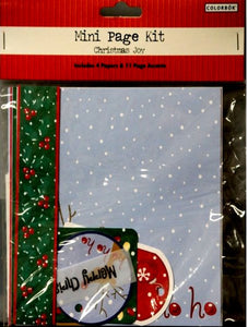 Colorbok Christmas Joy Mini Page Kit - SCRAPBOOKFARE
