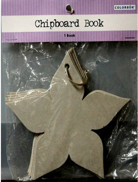 Colorbok Chipboard Flower Shaped Scrapbook Album - SCRAPBOOKFARE