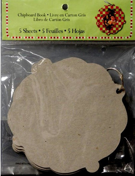 International Greetings Inc. Chipboard Christmas Ornament Shaped Scrapbook Album - SCRAPBOOKFARE