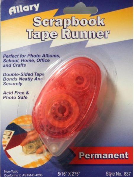 Allary Double-Sided Permanent Adhesive Roller/Runner - SCRAPBOOKFARE