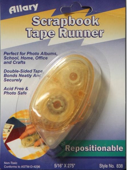 Allary Double-Sided Repositionable Adhesive Tape Runner or Roller - SCRAPBOOKFARE
